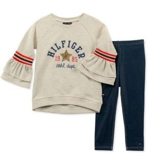 Tommy Hilfiger Matching Sets - Tommy Hilfiger Ruffle-Bell Sleeve Top & Leggings